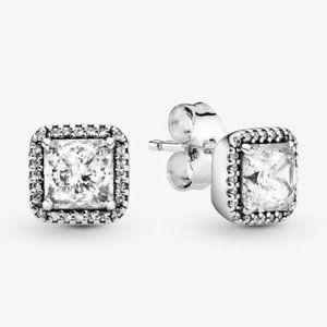 🔥Pandora🔥 Square Sparkle Halo Stud Earrings